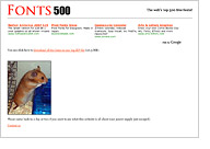 FONTS 500