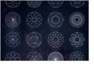 16個の幾何学模様のAIデータダウンロード